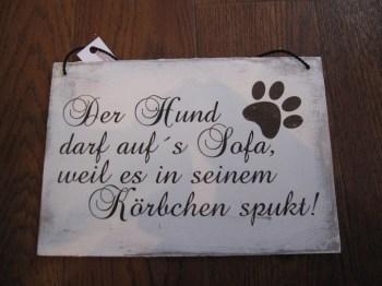 Vintage Shabby Chic Schilder für Hundefreunde, Zitate oder witzige ...